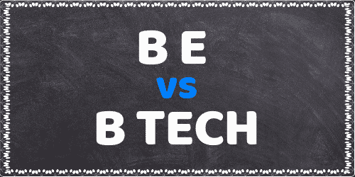 difference between be and btech