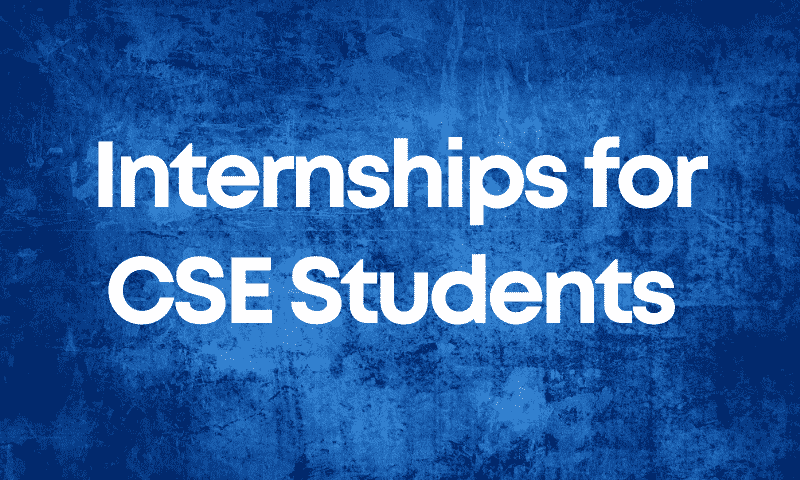 Internships For CSE 2nd Year Students